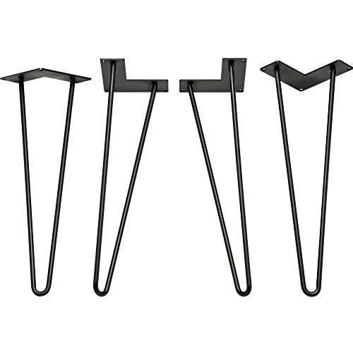 24 inch 2 Rod HD, Hairpin Legs Painted Black 1/2
