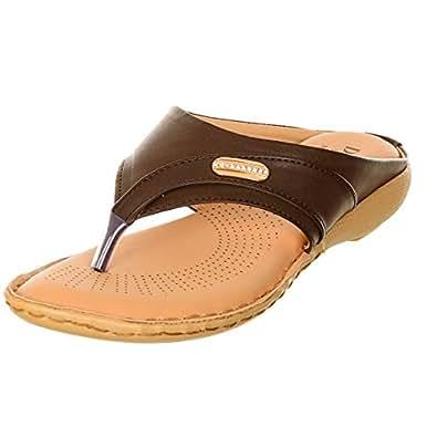 Morganite Thong Sandals for Women - Brown