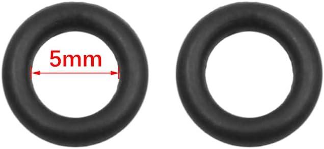 X AUTOHAUX Noir NBR Joint Torique Joint /étanch/éit/é Rondelle pour Voiture 5 x 1.8mm 200pcs