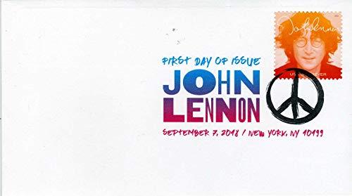 John Lennon September 7, 2018 Forever Stamp Color Postmark First Day of Issue L1