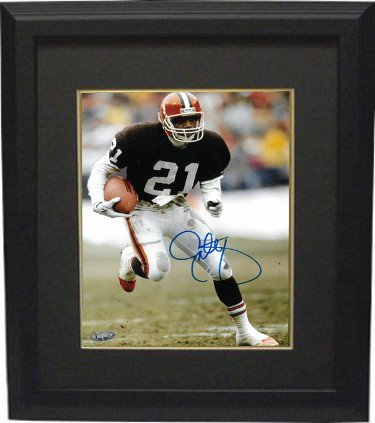 10 Cleveland Browns Jersey - RDB Holdings & Consulting CTBL-BB20042 8 x 10 in. Eric Metcalf Signed Cleveland Browns Brown Jersey Photo Framed- Tri Star Hologram44; Black & Black