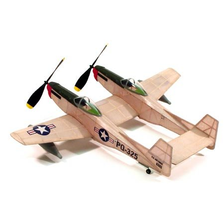 Free Balsa Airplane Plans - F-82 Twin Mustang,17.5