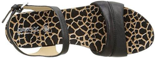 Sandal Black Formosa Heel C Geox D Women's Flat PYqB8w