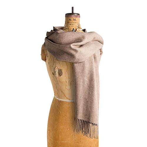 Maloca Baby Alpaca Oversized Scarf | 100% Baby Alpaca Wool | Ethically Sourced | Naturally Resists Dirt and Moths | Hypoallergenic | 28 x 75 inches | ()