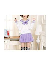 MRxcff-Junior Girls Uniforms Sailor Suit Students School Uniform for Teens Preppy Style Fashion Japanese Shirt