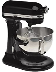 KitchenAid RKV25GOXOB Professional 5 Plus 5-Quart Stand Mixer, Onyx Black (Certified Refurbished