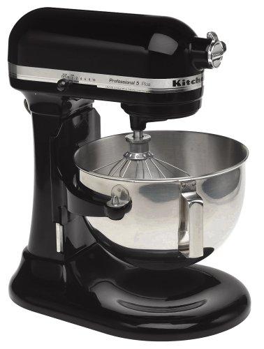 KitchenAid RKV25GOXOB Professional 5 Plus 5-Quart Stand Mixer, Onyx Black Renewed