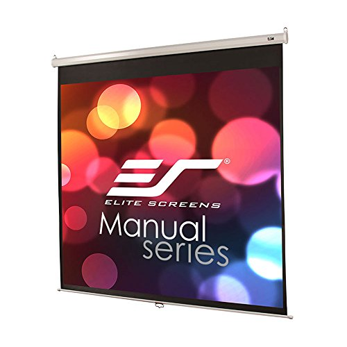 Elite Screens Manual Series, 71-INCH 1:1, Pull Down Manual Projector Screen with AUTO Lock, Movie Home Theater 8K / 4K Ultra HD 3D Ready, 2-Year Warranty, M71XWS1 ()