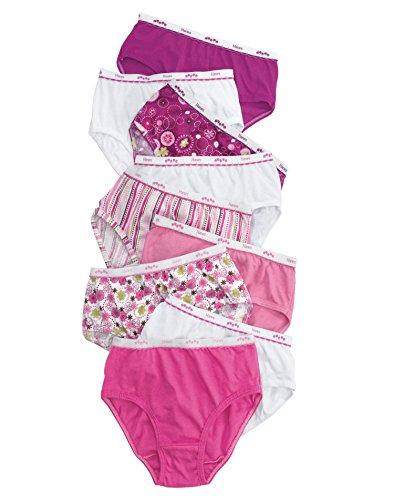 Hanes Girls' No Ride Up Cotton Low Rise Briefs, Size 16, (Hanes Girls Briefs)