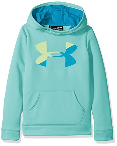 Blue Big Logo Hoodie - Under Armour Girls' Armour Fleece Big Logo Hoodie,Blue Infinity (942)/Blue Shift, Youth Medium