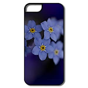 IPhone 5/5S Case, Forget Me Flower White/black Cases For IPhone 5 5S