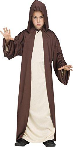 Hooded Robe Boys Costume, -