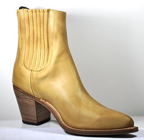 Tony Mora Cowboy Boots Damen Stiefeletten Box Brash Natural Irene