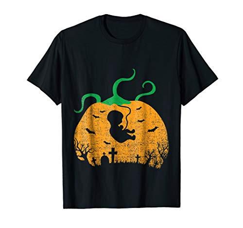 Halloween Shirt Baby Pumpkin Pregnancy Announcement Costume ()