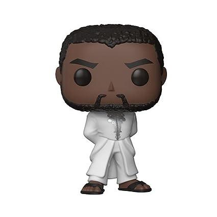 Amazon.com: Pantera negra blanco albornoz Pop. Vinilo Figura ...