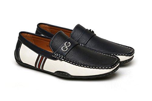 Noir Hommes Brun GG Créateur DécontractéÉtéà Enfiler Mocassin Conduite Chaussures Mode UK taille Bleu/Blanc 6jrw8
