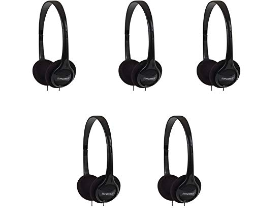 Koss Lot of 5 KPH7 On-Ear Soft Padded Stereo Headphones w/Adjustable Headband