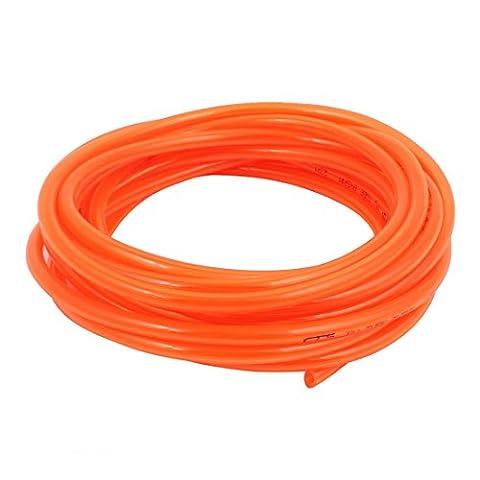 uxcell 8mm x 5mm Pneumatic Air Compressor Tubing PU Hose Tube Pipe 7 meter Orange (1 8 Air Compressor Fitting)