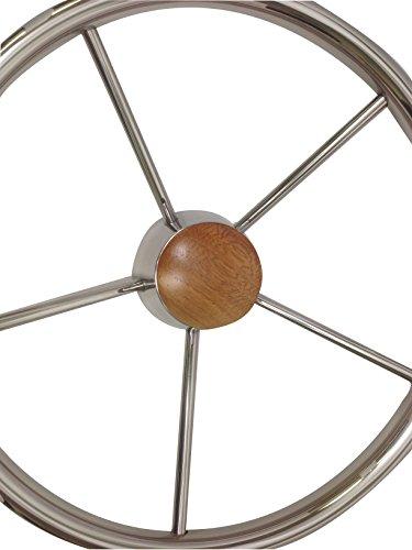 Pactrade Marine Boat Stainless Steel Five Spoke Steering Wheel with Bakelite Cap, 13.75'' L by Pactrade Marine (Image #3)