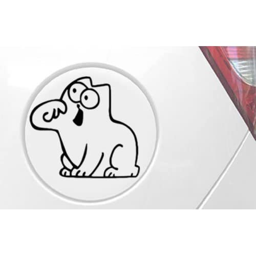 édition limitée Sticker humoristique Simon's Cat en vinyle pour fenêtres, voitures, bateaux