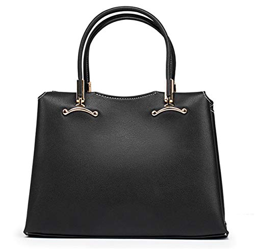 Portable Slung American And One Shoulder Leather Bag Fashion Yeying123 Backpack Top Female Layer black European qx7FUw1