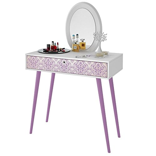 Vanity Set in White and Lavender