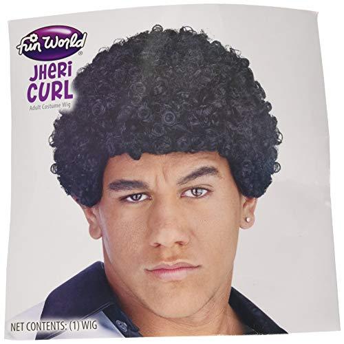 Jheri Curl Wig Costume Accessory -