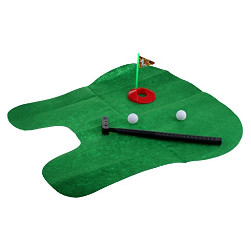 Baoblaze Portable Bathroom Toilet Golf Game Sports Toy Play Set with Golf Mat, Golf Putter, Golf Hole, Golf Balls by Baoblaze