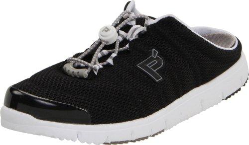 Propet Women's Travelwalker Slide Shoe Black Mesh