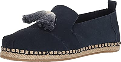 TOMS Women's Deconstructed Alpargata Rope Navy Suede 5 B US