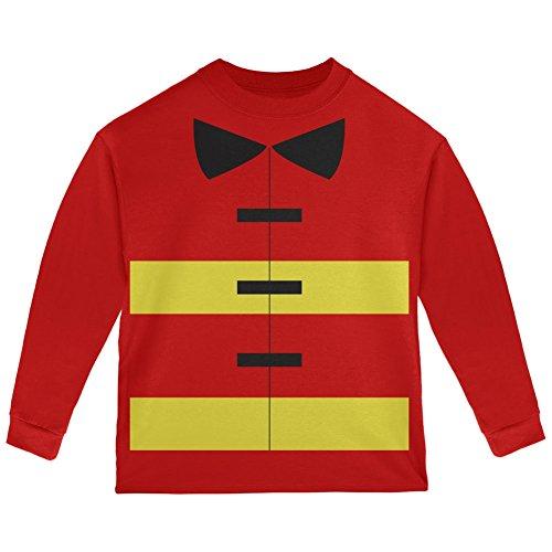Halloween Fireman Costume Red Toddler Long Sleeve T-Shirt