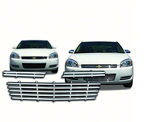 New Chrome Grille Cover Insert Overlay Fits Chevy Impala LS, LT, LTZ 2006-2011 gi-80