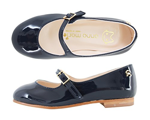 Milky Walk Simplicity Girl's Mary Jane Shoes (13 M US Little Kid, Navy) by Milky Walk