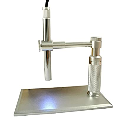 BEST Digital USB Microscope- 2.0MP, Advanced CMOS Sensor, 200x Zoom, Video, 1600 x 1200 HD Still Imaging, 8 LED Adjustable Light Source, Home, Health, Collections, PCB Inspection, Amazing! Aluminum Base and Stand, 100% Guaranteed!!!