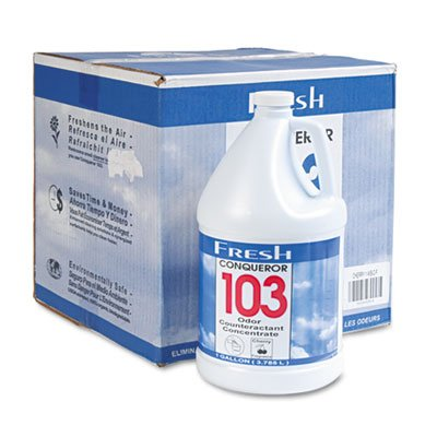 Digester Concentrate (Conqueror 103 Odor Counteractant Concentrate, Cherry, 1gal Bottle, 4/Carton, Sold as 1 Carton)