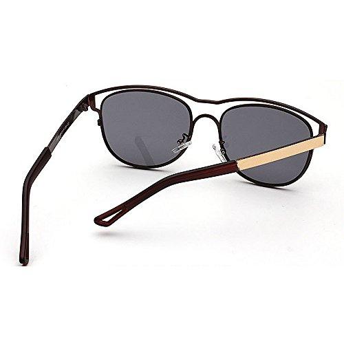 Colored Protección de Conducción Beach Color Plata Peggy de Lens Gafas Sol Gu Personality Unisex Aire Hombres Mujeres para Marrón Travelling UV al Libre qWwAxA8zpt
