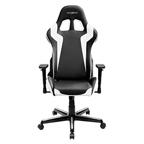 DXRacer OH/FH00/NW Formula Series Black and White Gaming Chair - Includes 2 Free Cushions and on Frame