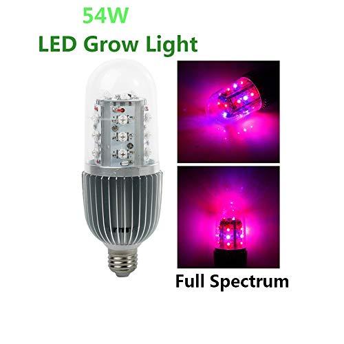 LED Grow Light 54W Planta De Espectro Completo Grow Light Bulb E27 Socket Lámpara De Cultivo Para Interiores Grow Carpa...
