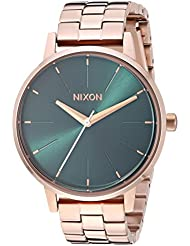 Nixon Kensington All Rose Gold/Emerald Women's Watch (37mm. Emerald Face/All Rose Gold Stainless Steel Band)