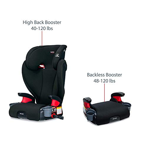 41CYEn0uYHL - Britax Skyline 2-Stage Belt-Positioning Booster Car Seat - Highback And Backless | 2 Layer Impact Protection - 40 To 120 Pounds, Dusk