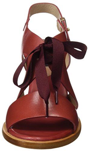 Neosens S991 Restored Skin Geranium Montua, Sandalias con Punta Abierta para Mujer Rojo (Geranium)