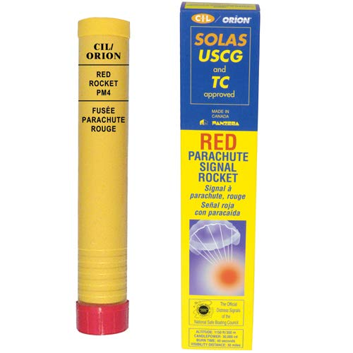 Orion Safety 800, Red Parachute Signal Rocket, Solas. Rocket Signals- Solas Pack of 2 by Orion Safety