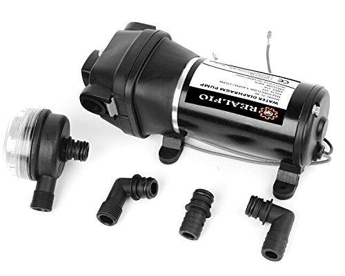 REALFLO UPGRADE 12V Water Pressure Diaphragm Pump 4.5GPM 17L/min 40Psi Caravan/RV/Boat/Marine