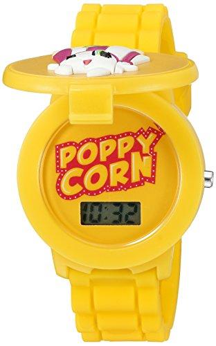 Shopkins Girl's Quartz Plastic and Silicone Casual Watch, Color:Yellow (Model: KIN4032)