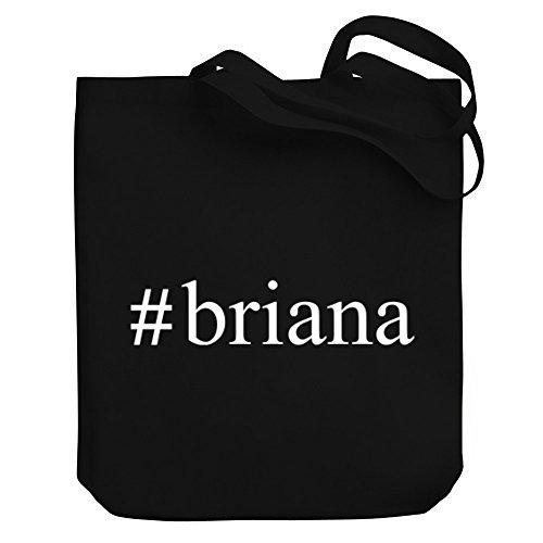 tag Canvas Tote Bag (Briana Tote)