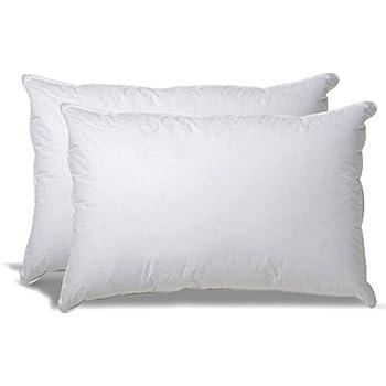 Premium Plush Soft Cluster Fiber Filled Pillows, (2 Pack, Standard/Queen) 100% Cotton Shell, Dust Mite Resistant, Retain in Shape, NO FLATTENING!