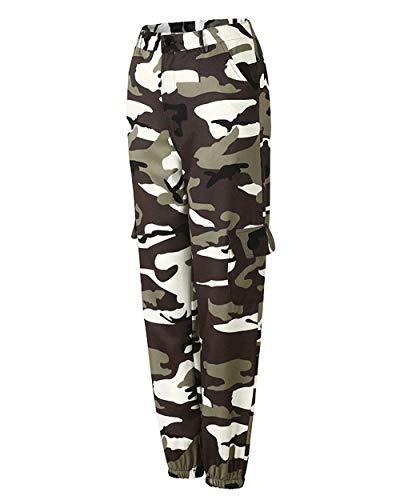 Casuales Mujeres Grau Bolsillo Battercake Camuflaje Deportivo Al Mujer Jeans Para Múltiples Aire Pantalones Con De Jóvenes Casual Libre UwU1qzvR