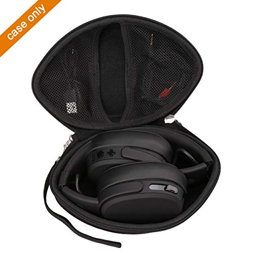 Aproca Hard Travel Case Bag Compatible with Skullcandy Crusher Bluetooth Wireless/LilGadgets Connect+ Premium Volume Limited Wired Over-Ear Headphone (Black)