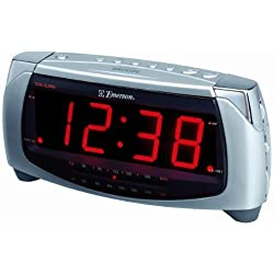 Emerson CK5250 Dual Alarm Clock Radio (Silver) (Discontinued by Manufacturer)