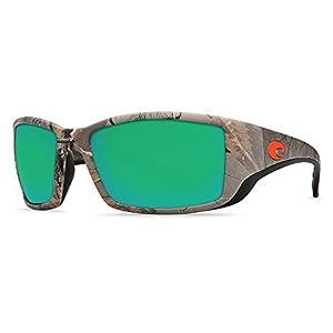 Costa Del Mar Blackfin Sunglasses Realtree Xtra Camo/Green Mirror 400Glass